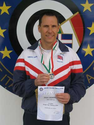 Simon Aldhouse and Medal
